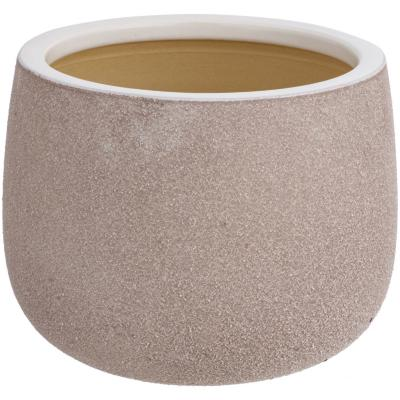 Macetero de cerámica 30x23 cm beige