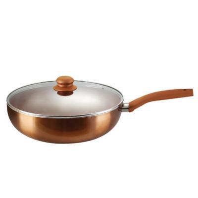 Wok 30 cm con tapa cobre