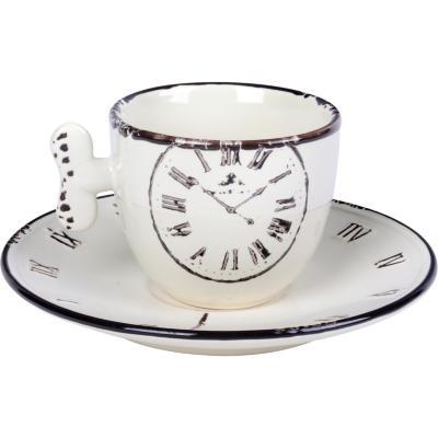 Set taza con platillo time 4 piezas