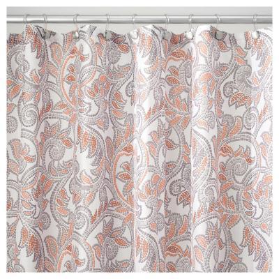 Cortina de baño Mosaico poliéster 183x183 cm coral