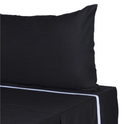 Juego de sábanas 180 hilos 1,5 plazas negro