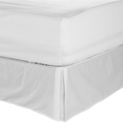 Faldón para cama blanco king