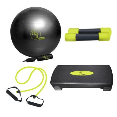Set ejercicios gym 4 piezas negro