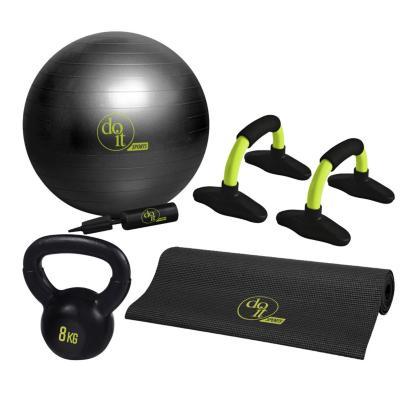 Set ejercicios gym 5 piezas negro