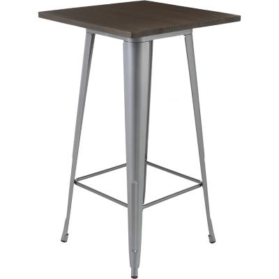 Mesa alta metal gris & oak