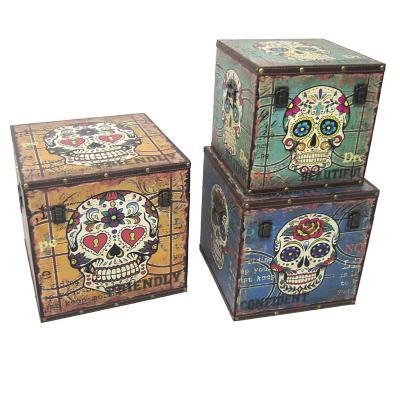 Set de 3 cajas Calavera surtido colores
