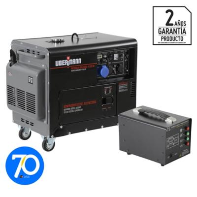 Generador eléctrico a diesel insonorizado 4500W + ATS