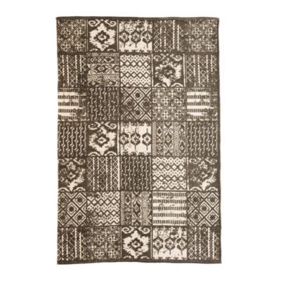 Alfombra Kelim mosaico etnic 140x200 cm café