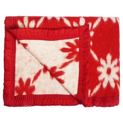 Frazada Jacquard 1 plaza rojo 145x210 cm