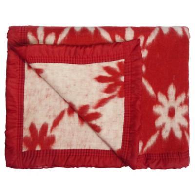 Frazada Jacquard 1,5 plazas rojo 165x210 cm