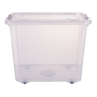 Caja organizadora 28 litros 32x32x41 cm gris con ruedas