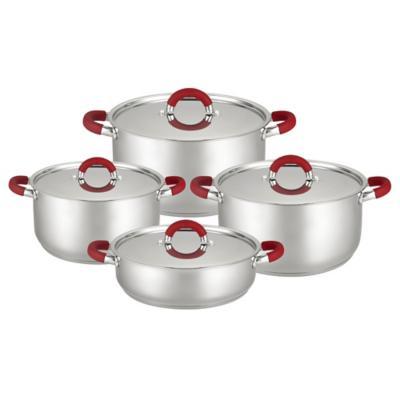 Batería de Cocina 8 Piezas Acero Gris