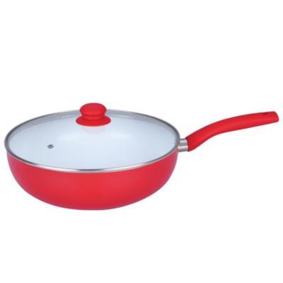 Wok con tapa 30 cm rojo