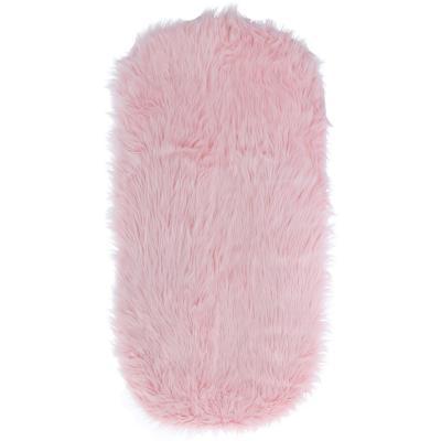 Piecera peluda rosado 1,5 plazas