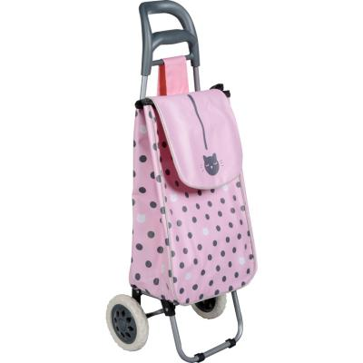 Carro de compras 95x28x35 cm poliéster rosado