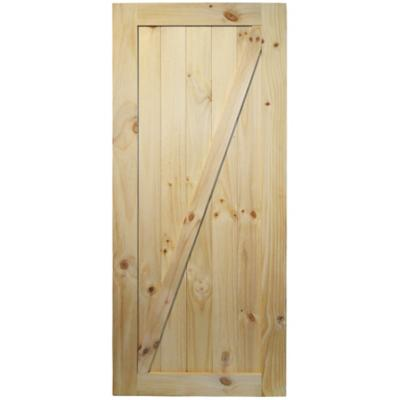 Puerta de pino barn door 80x200 cm natural