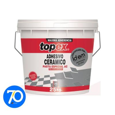 Adhesivo cerámico/muro superficie flexible 25kg