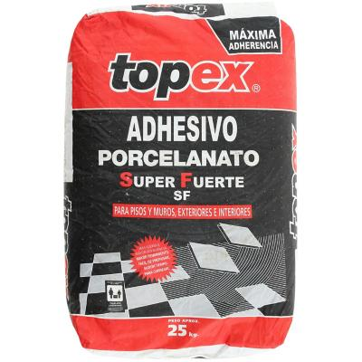 Adhesivo porcelanato piso/muro superficie rigida 25kg