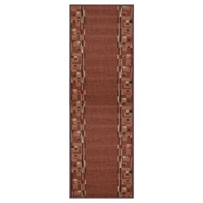 Alfombra pasillo pasillo Bombay 67x180 cm terracota