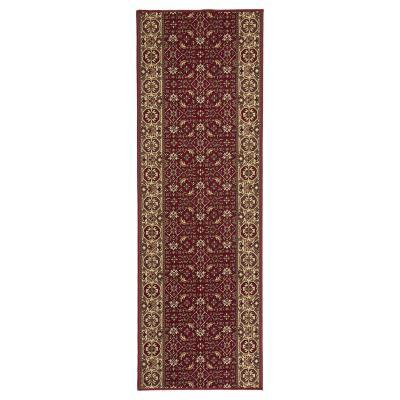 Alfombra pasillo pasillo Bidjar 67x180 cm rojo