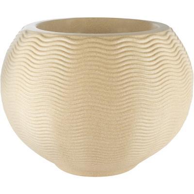 Macetero ondulado redondo de plástico 40x54,7 cm arena