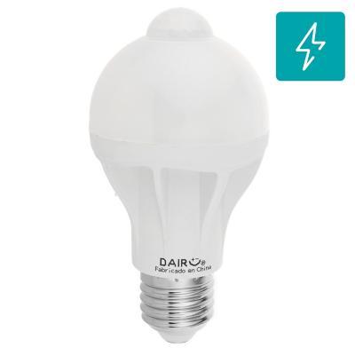 Ampolleta LED con sensor de movimiento 9W e27 luz cálida