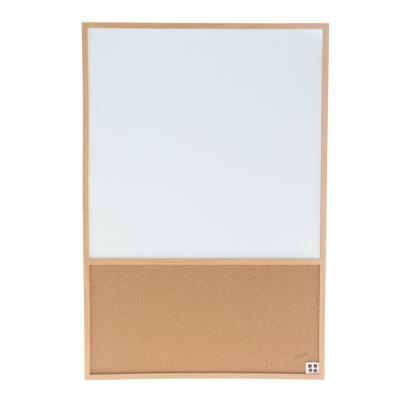 Pizarra con corcho marco madera 94x64 cm
