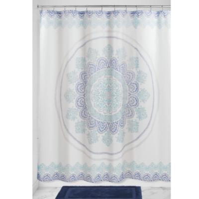Cortina de baño Ezra Medallion poliéster 183x183 cm