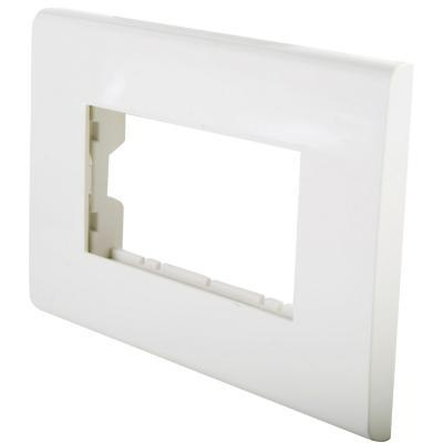 Placa 3 posiciones con soporte blanco Clio