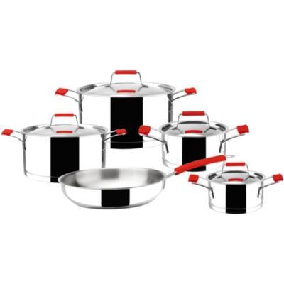 Batería de Cocina 9 Piezas Acero Gris