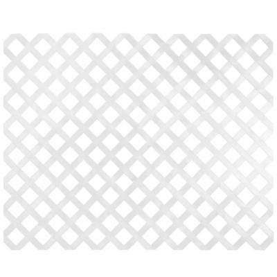 Enrejado PVC 122x244 cm Blanco