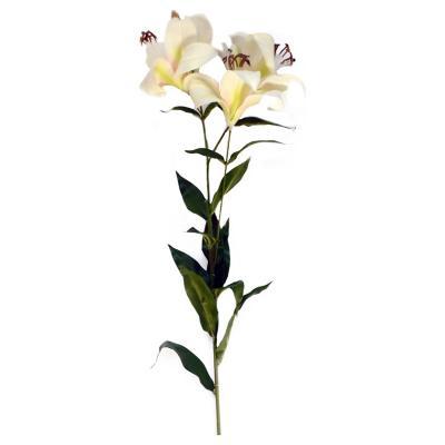 Lily artificial 95 cm blanco