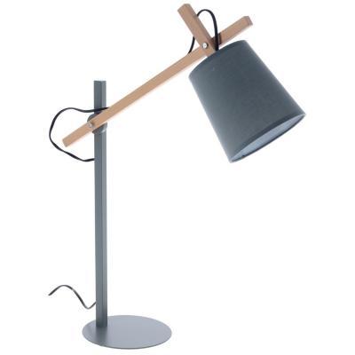 Lámpara escritorio Ark gris 1 luz 40 W E27