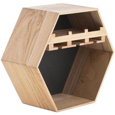 Repisa porta copas desigual 50x22x43 cm