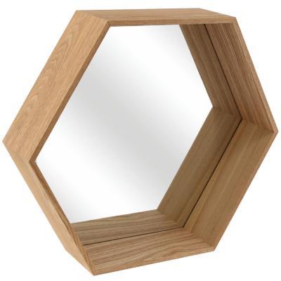 Repisa 6 puntas espejo 50x11x43 cm