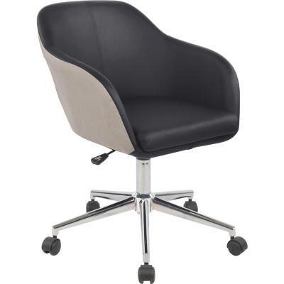 Sillón PC Diseño Conni 91x57x60 cm Negro/Café