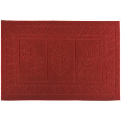 Limpiapiés texture Hoja rojo 38x57 cm