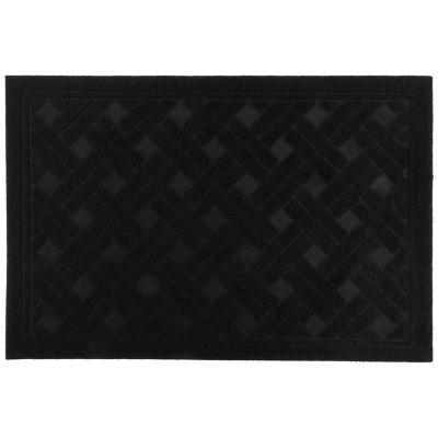Limpiapiés texture negro 38x57 cm