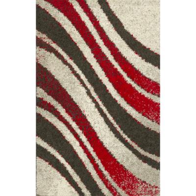 Bajada de cama lotto ondas 57x90 cm multicolor