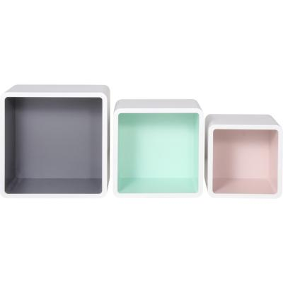Set de cubos 28x23x19 cm blanco