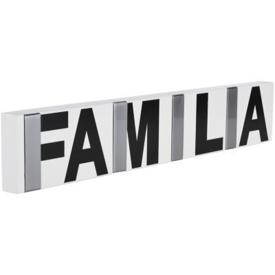 Percha 4 ganchos Familia 40x7x2 cm