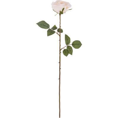 Rosa betty artificial 66 cm crema