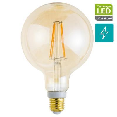 Ampolleta LED de filamento E27 50W luz cálida