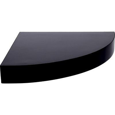 Repisa esquina melamina 25x25 cm negro