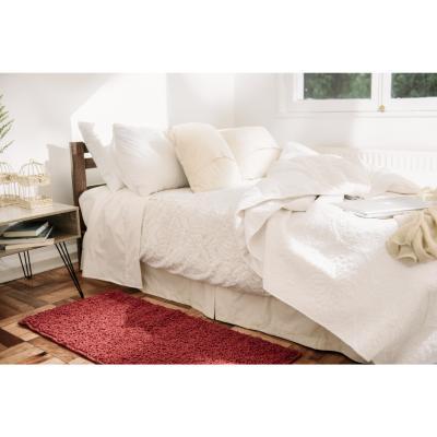 Bajada de cama shaggy conrad 50x110 cm rojo