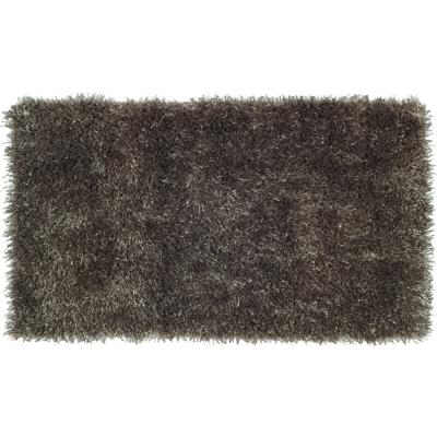 Bajada de cama shaggy conrad 50x110 cm negro