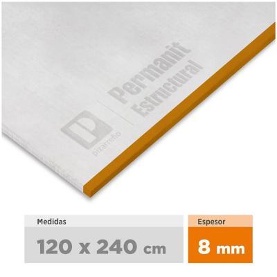 8 mm 120 x240 cm Placa de fibrocemento