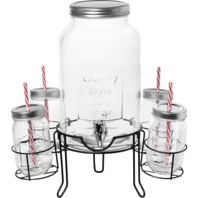 Dispensador 4,5 l con rack + 4 vasos