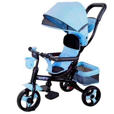Triciclo 4 funciones azul