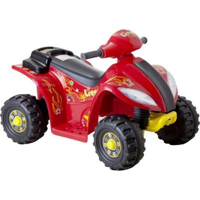 Moto 4 ruedas a batería roja